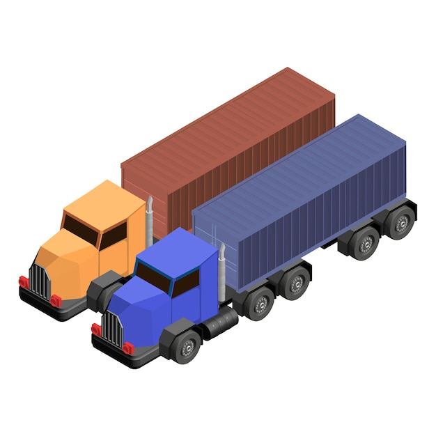 Truck lorry isolated on background Free Vector
