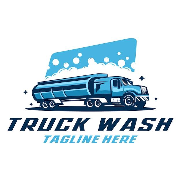 Truck wash logo template Premium Vector