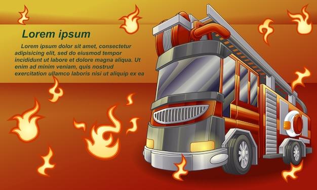 Truck. Premium Vector