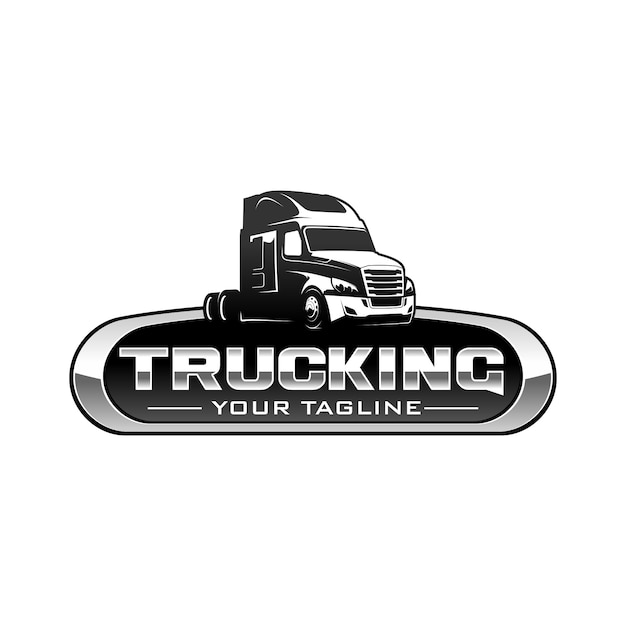 Trucking logo Premium Vector