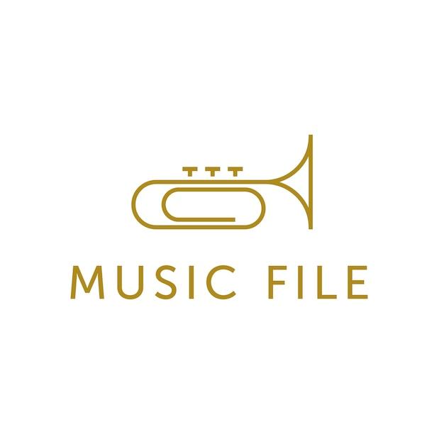 trumpet logo design