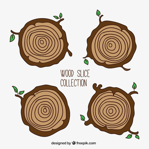 Trunks of trees with twigs Free Vector