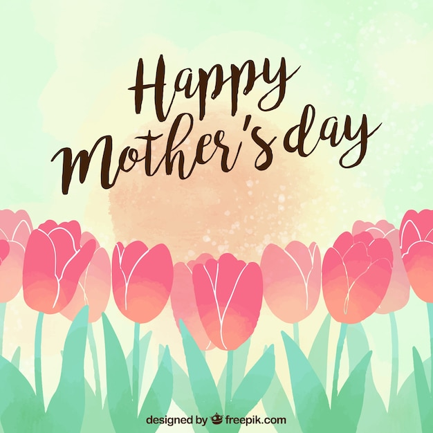 Tulips background happy mother\'s day
