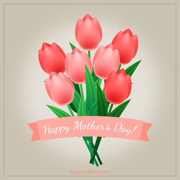 Tulips bouquet for mother\'s day