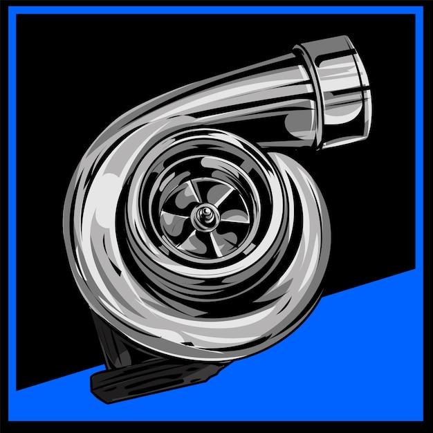 Дизайн турбо иллюстрации Premium векторы