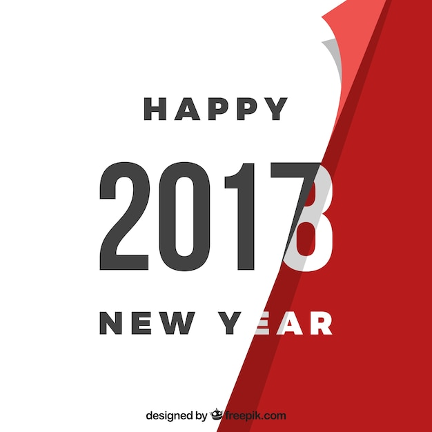 Turning the page - new year background Free Vector