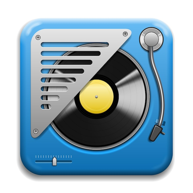 Turntable isolated Free Vector