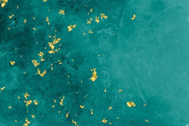 Бирюзовый и золотой фольги текстуры фона Бесплатные векторы