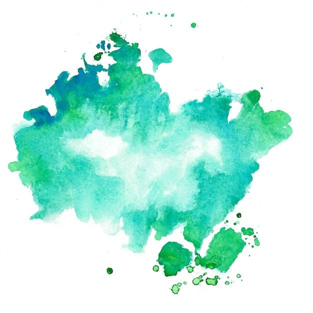 Turquoise and blue watercolor texture stain background Free Vector