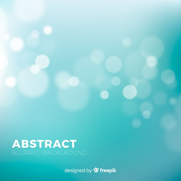 Turquoise blurred background Free Vector