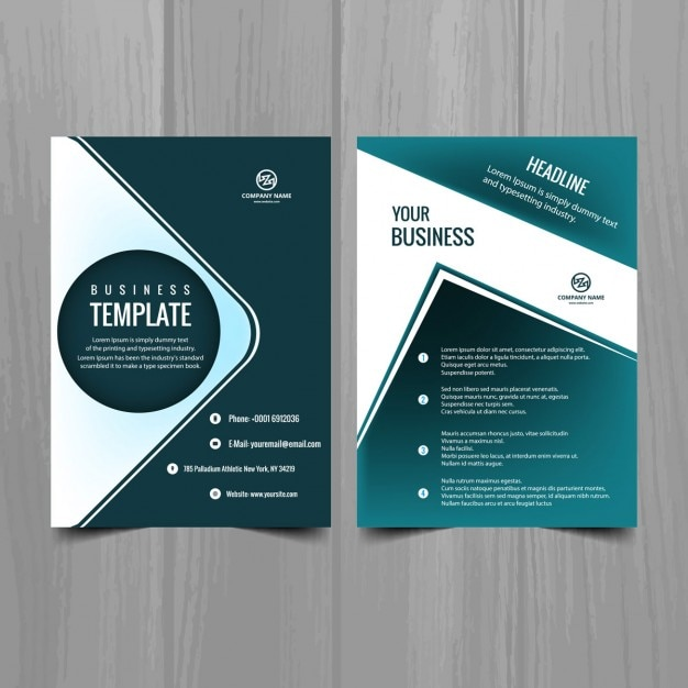 Turquoise Brochure Template Vector Free Download