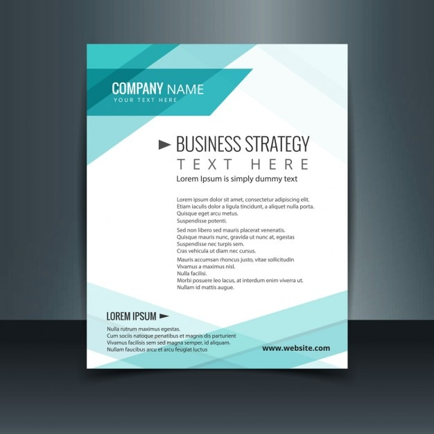 Turquoise business letterhead Free Vector