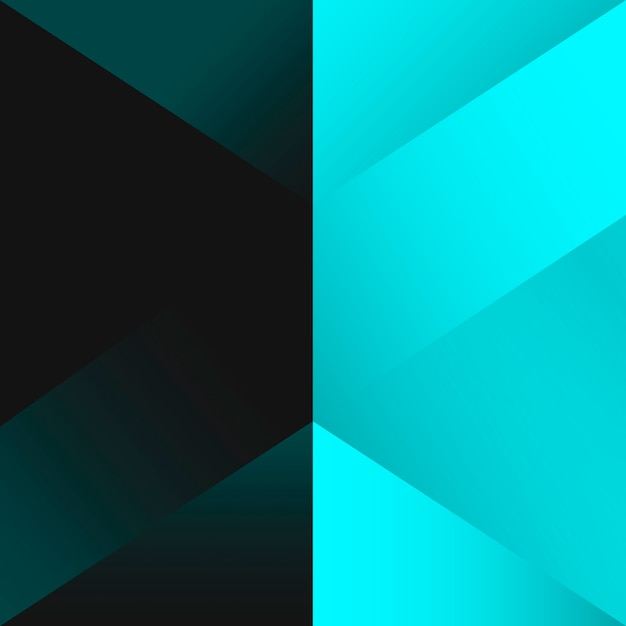 Turquoise geometrical background design vector Free Vector