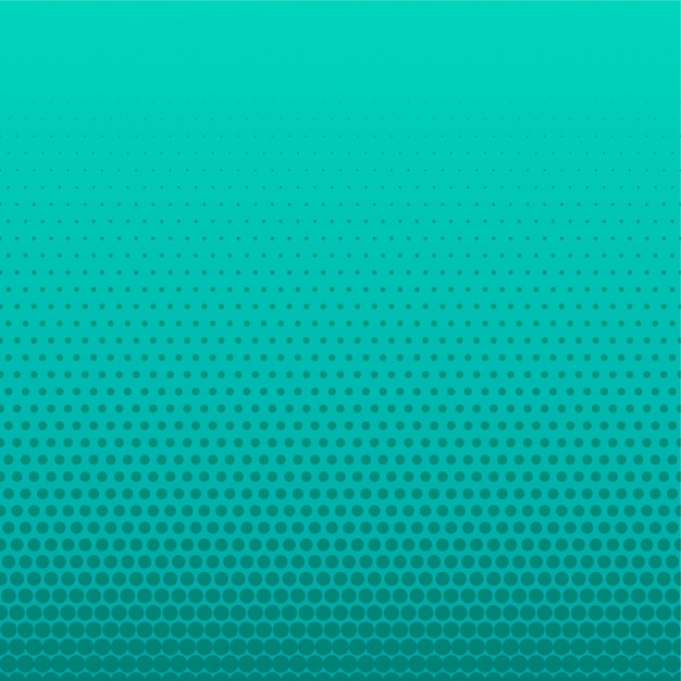Turquoise halftone dots empty background Free Vector