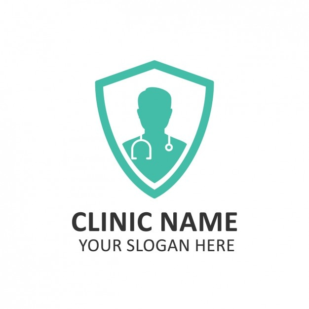 turquoise hospital logo template vector free download
