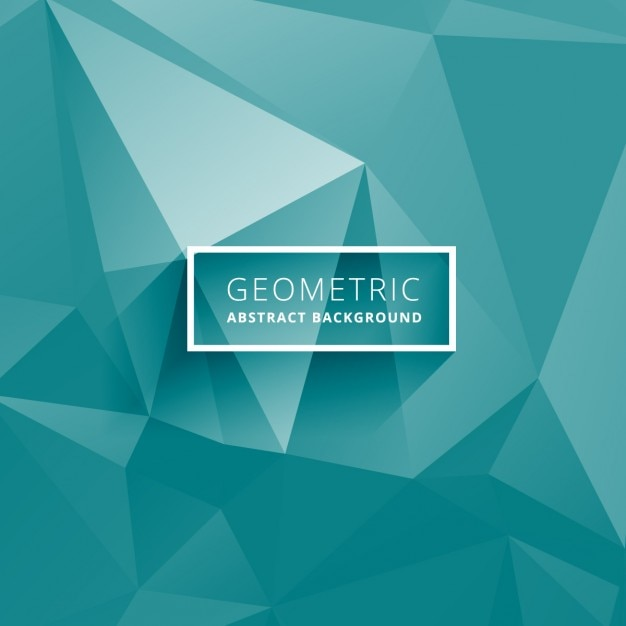 Turquoise Low Poly Background Vector Free Download