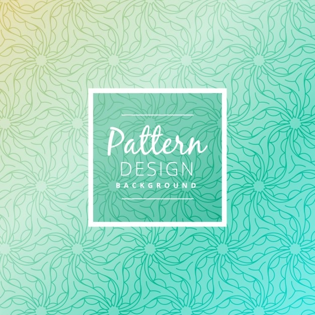 Turquoise pattern background Free Vector