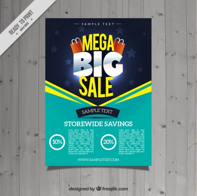 turquoise sale flyer vector free download