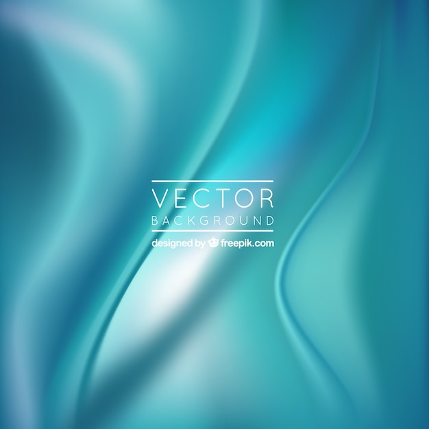 Turquoise silk background Free Vector