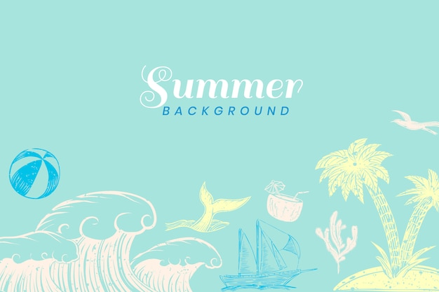 Turquoise summer background Free Vector