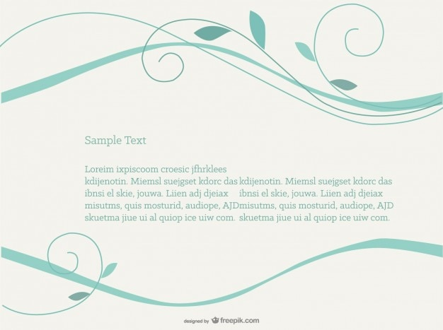 Turquoise swirls background Free Vector