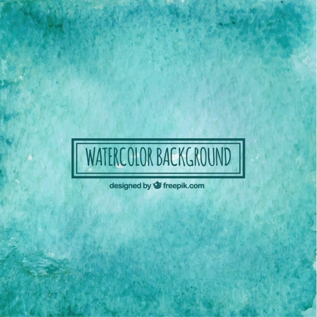 turquoise watercolor background vector free download
