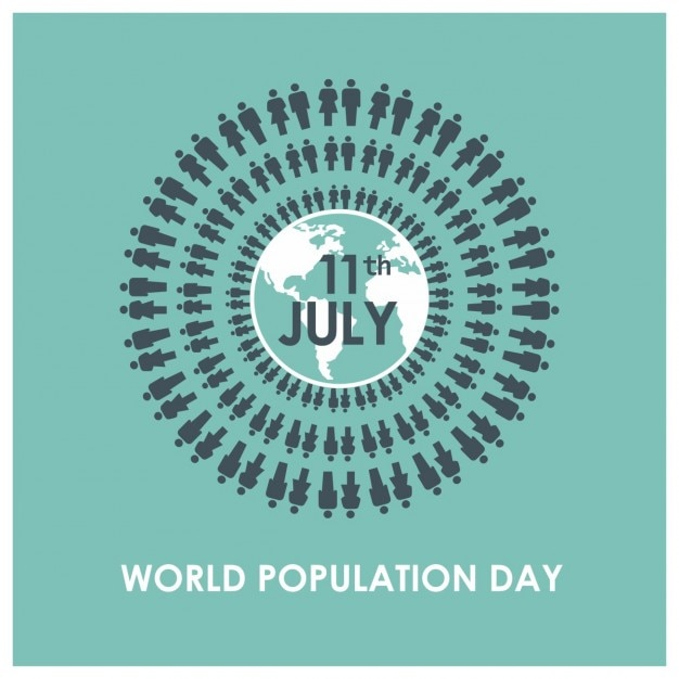 Persone in tutto il mondo di fondo della giornata popolazione Vettore gratuito