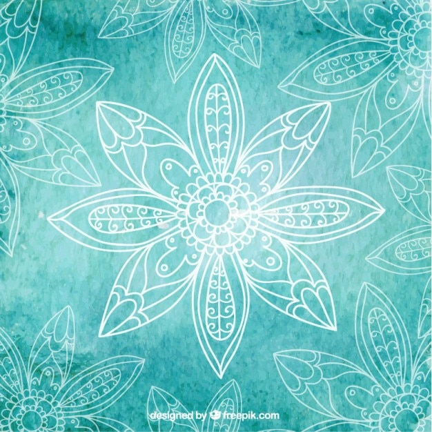 Turquoise yoga background Vector | Free Download