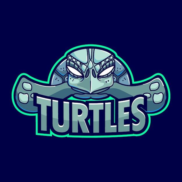 Шаблон логотипа талисман черепаха Бесплатные векторы