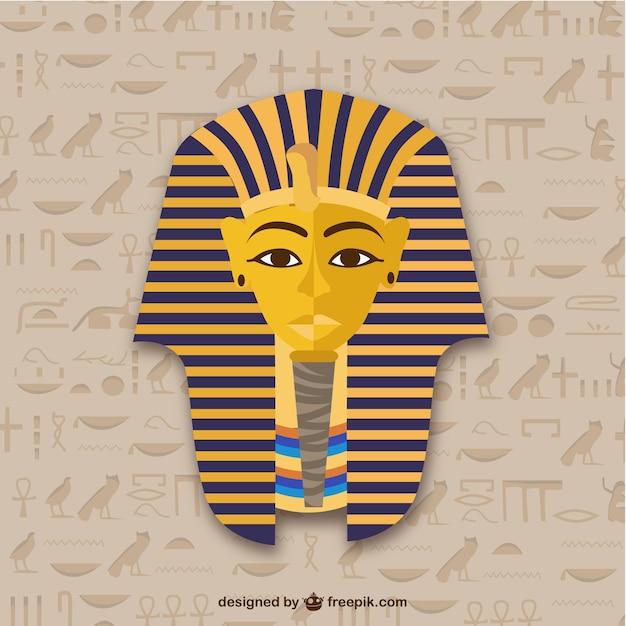 Tutankhamun Mask Free Vector