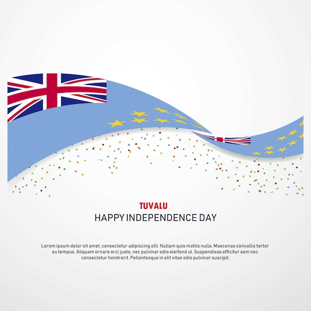 Tuvalu happy independence day background Free Vector