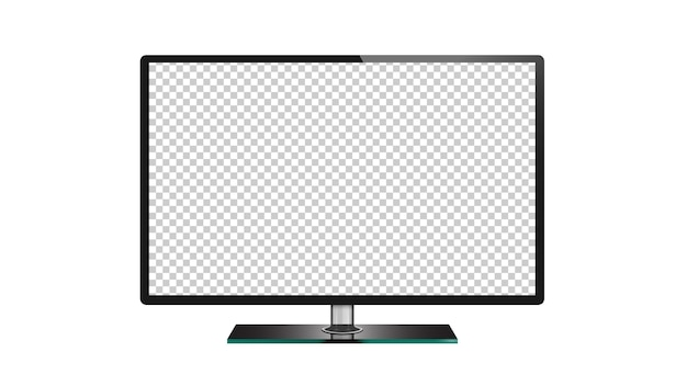Tv flat screen lcd, plasma, led tv monitor isolated Premium Vector