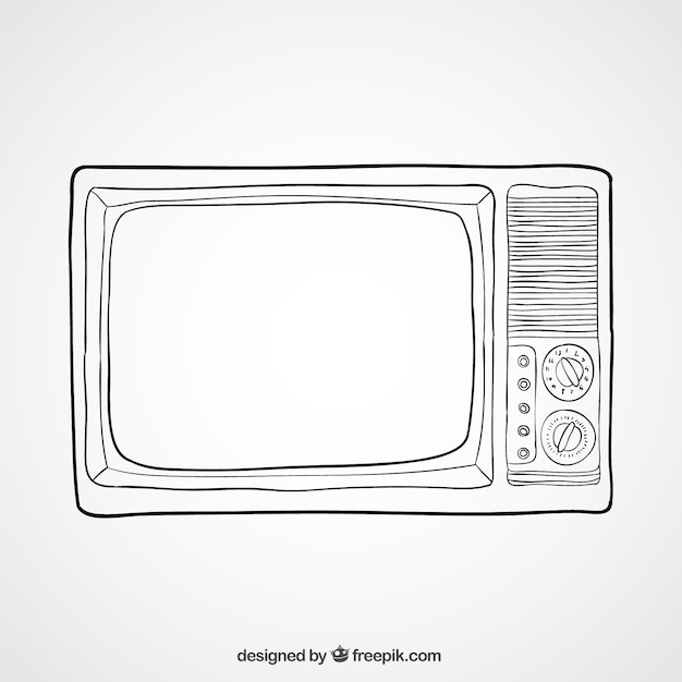 TV illustration Free Vector