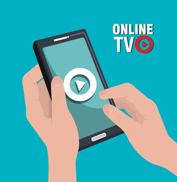 Tv live stream Premium Vector
