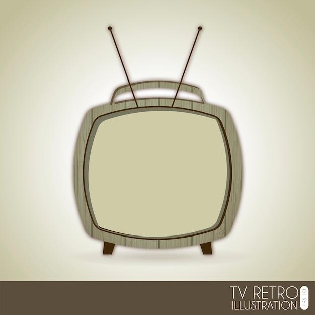 Tv retro over gray background vector illustration Premium Vector