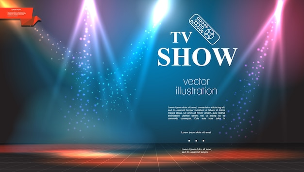 Tv show bright colorful background Free Vector