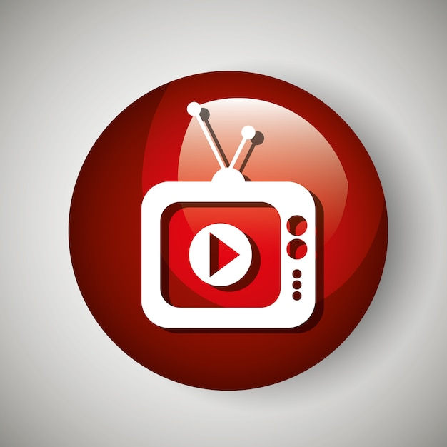 Tv video play live streaming Premium Vector