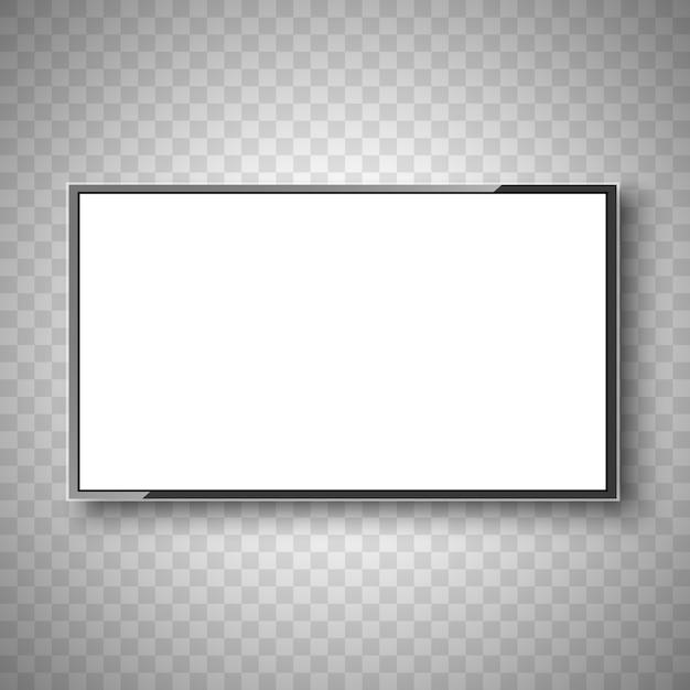 Телевидение. белый экран. монитор. Premium векторы