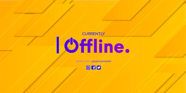 Twitch banner design with abstract background template Free Vector