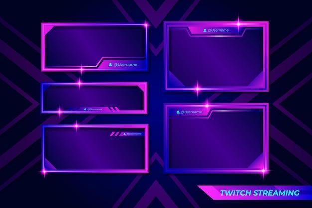 Панели twitch stream Premium векторы