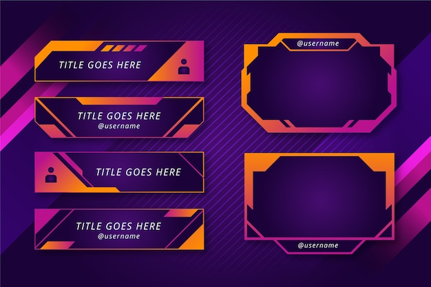 Twitch stream panels Free Vector
