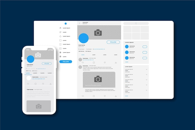 Twitter interface concept Free Vector