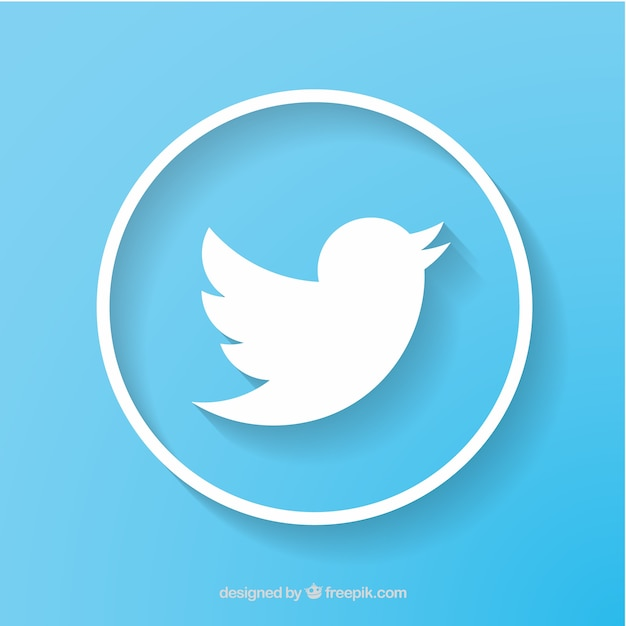 Twitter social network icon vector Free Vector