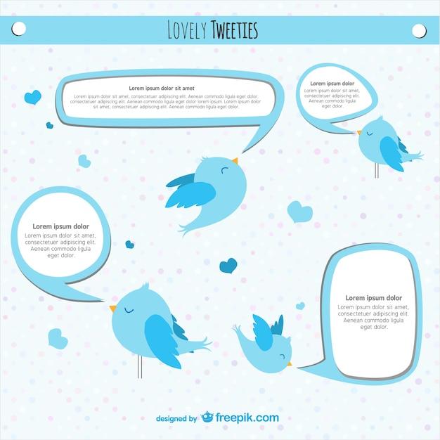 Twitterの鳥のベクトルのデザイン 無料ベクター