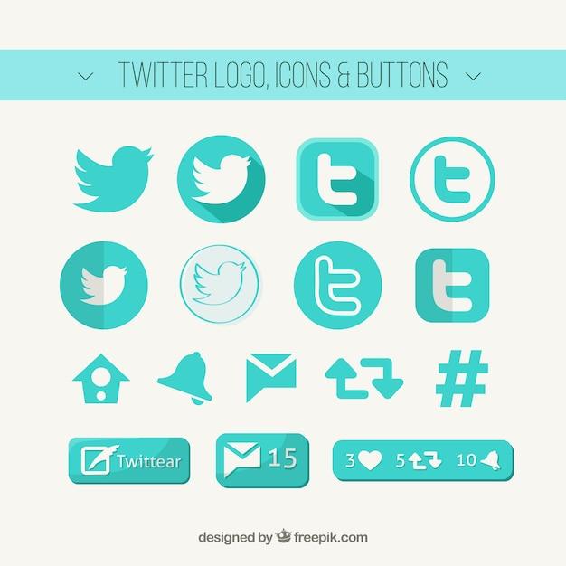 Twitterのロゴ、アイコンやボタン 無料ベクター