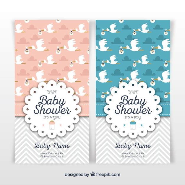 Two baby shower template