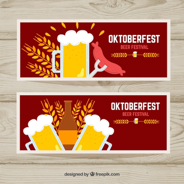 Two banners for oktoberfest