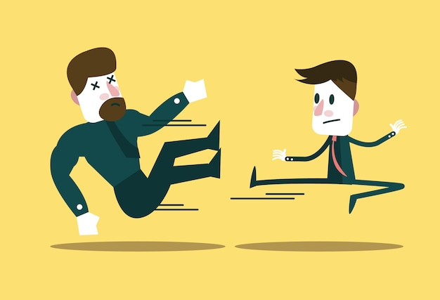 Premium Vector Two Business People Fighting