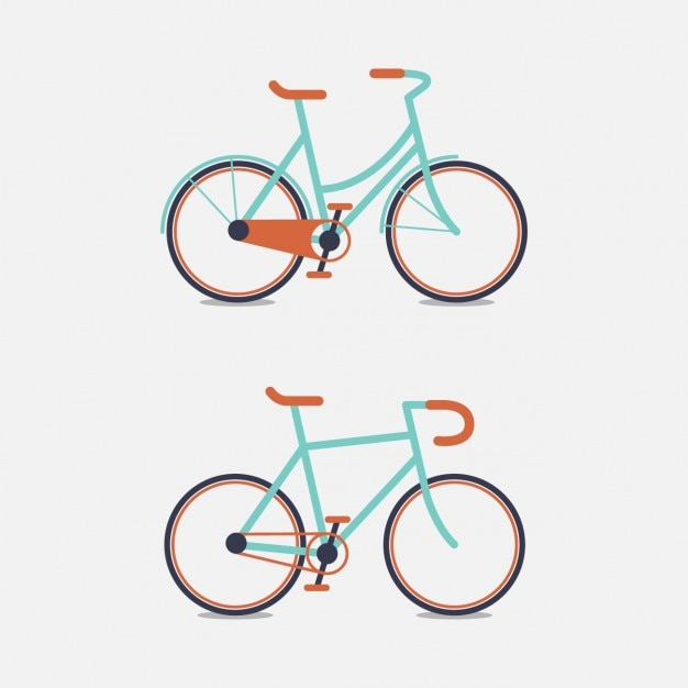 Two coloured bike design Free Vector
