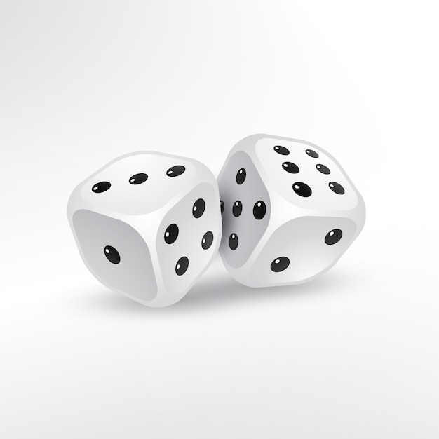 Two dices on white background Free Vector